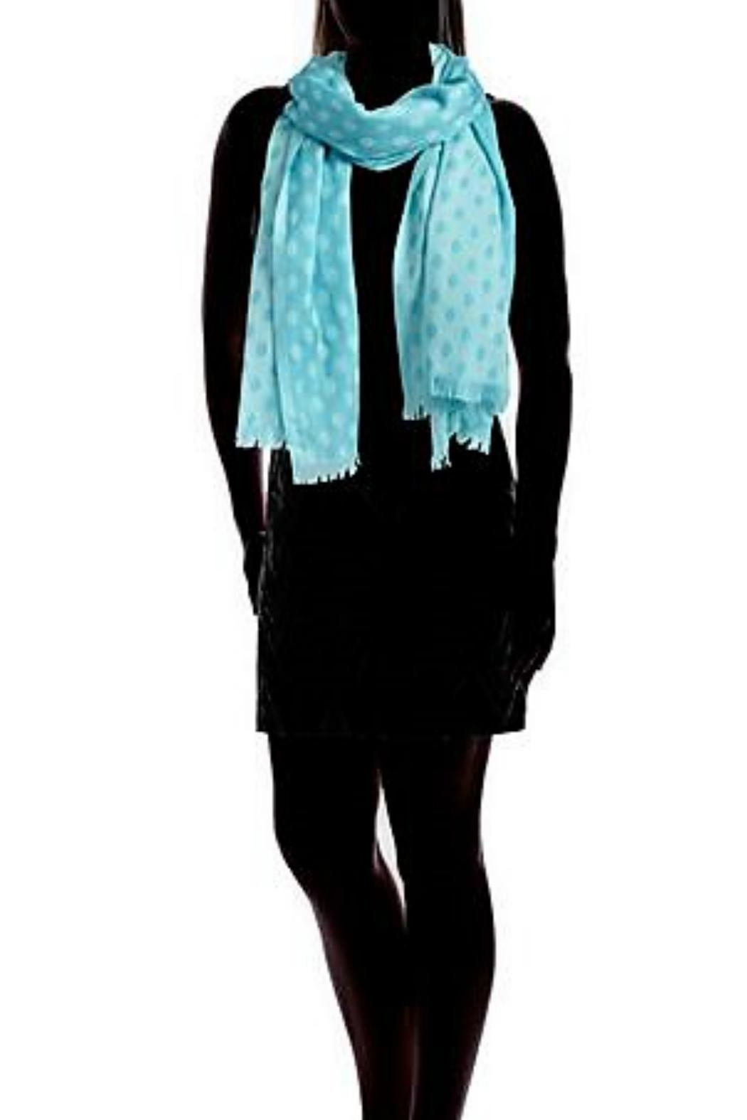 Vera Bradley Two-Tone Teal Scarf - Side Cropped Image