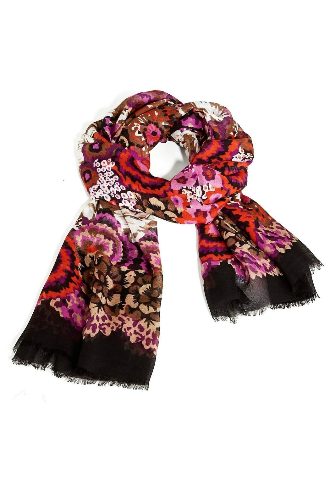 Vera Bradley Vera Rosewood Scarf - Front Cropped Image