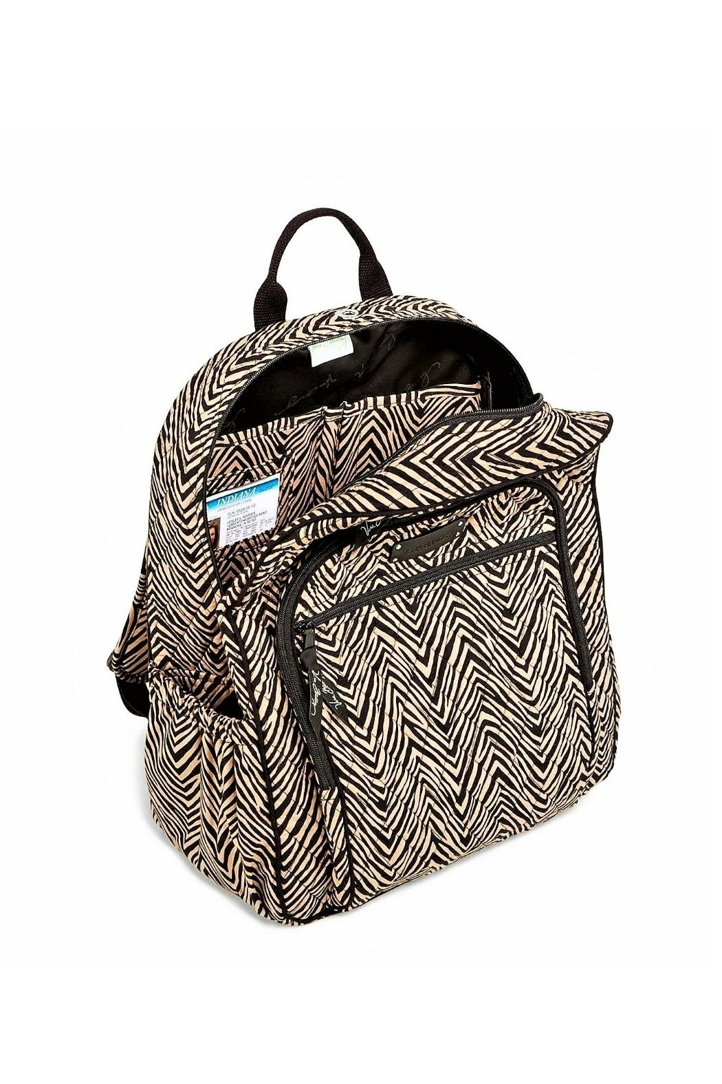Vera Bradley Zebra Campus Backpack - Side Cropped Image