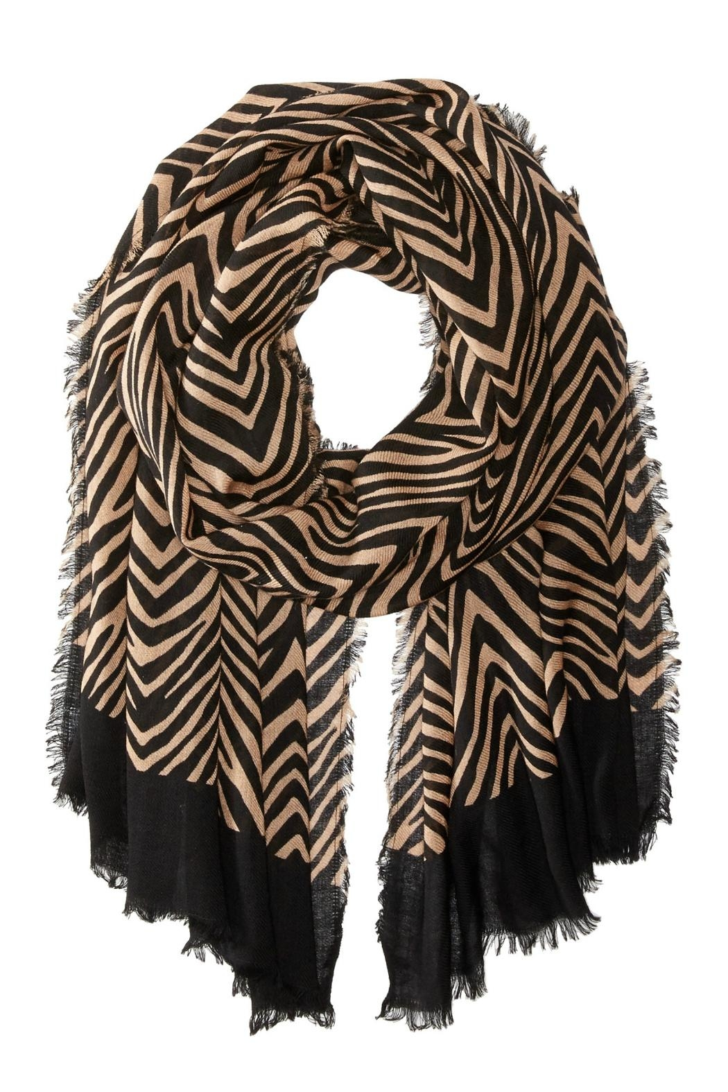 Vera Bradley Zebra Wool Scarf - Front Cropped Image