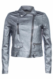 Vera Moda Vegan Leather Jacket - Front cropped