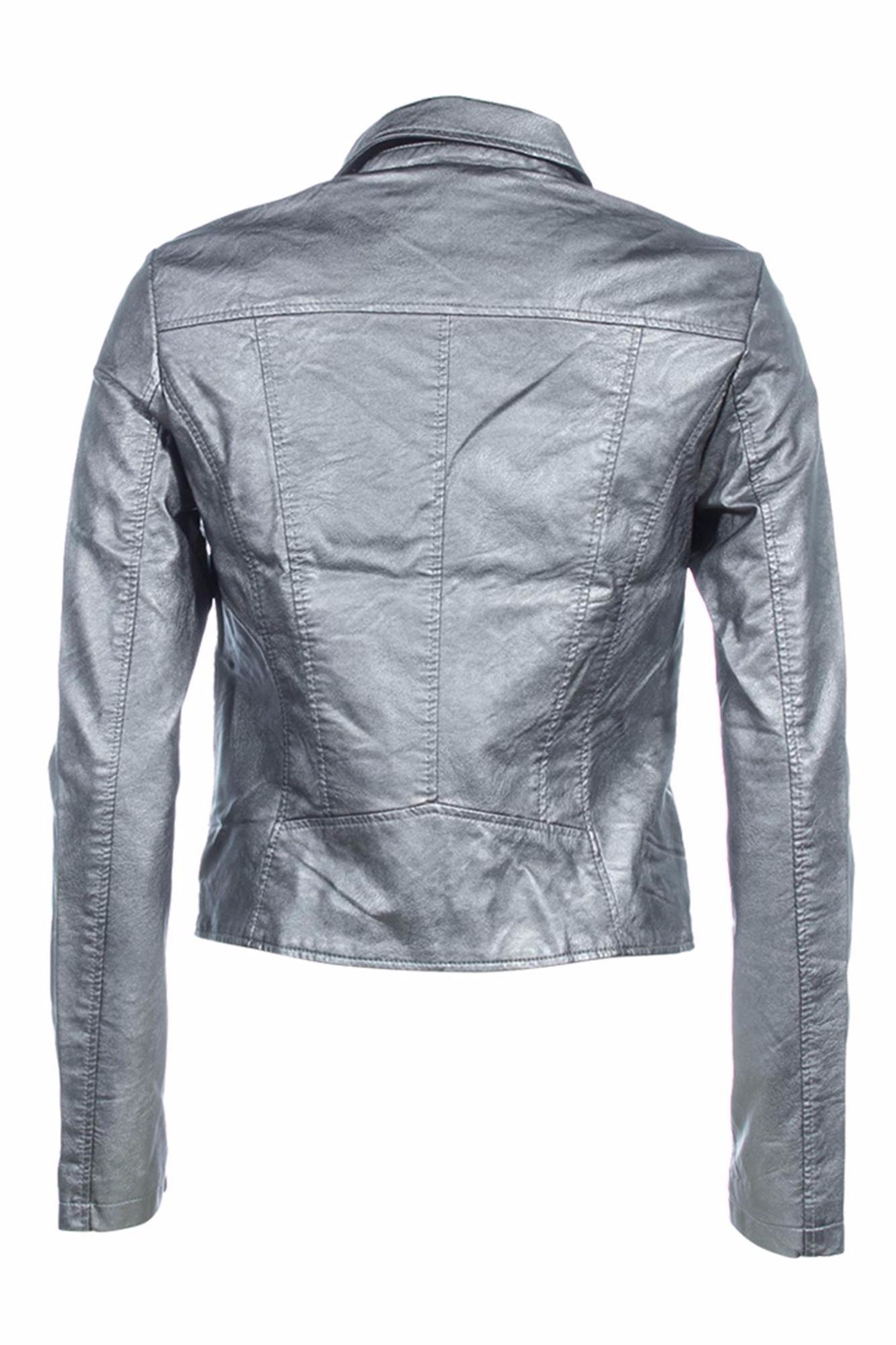 Vera Moda Vegan Leather Jacket - Front Full Image