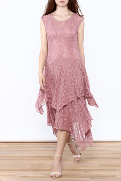 Verducci Old Rose Lace Dress - Product List Image