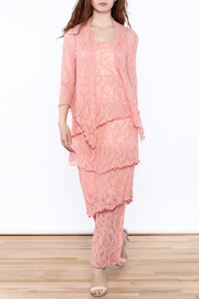 Verducci Coral Lace Jacket - Front full body