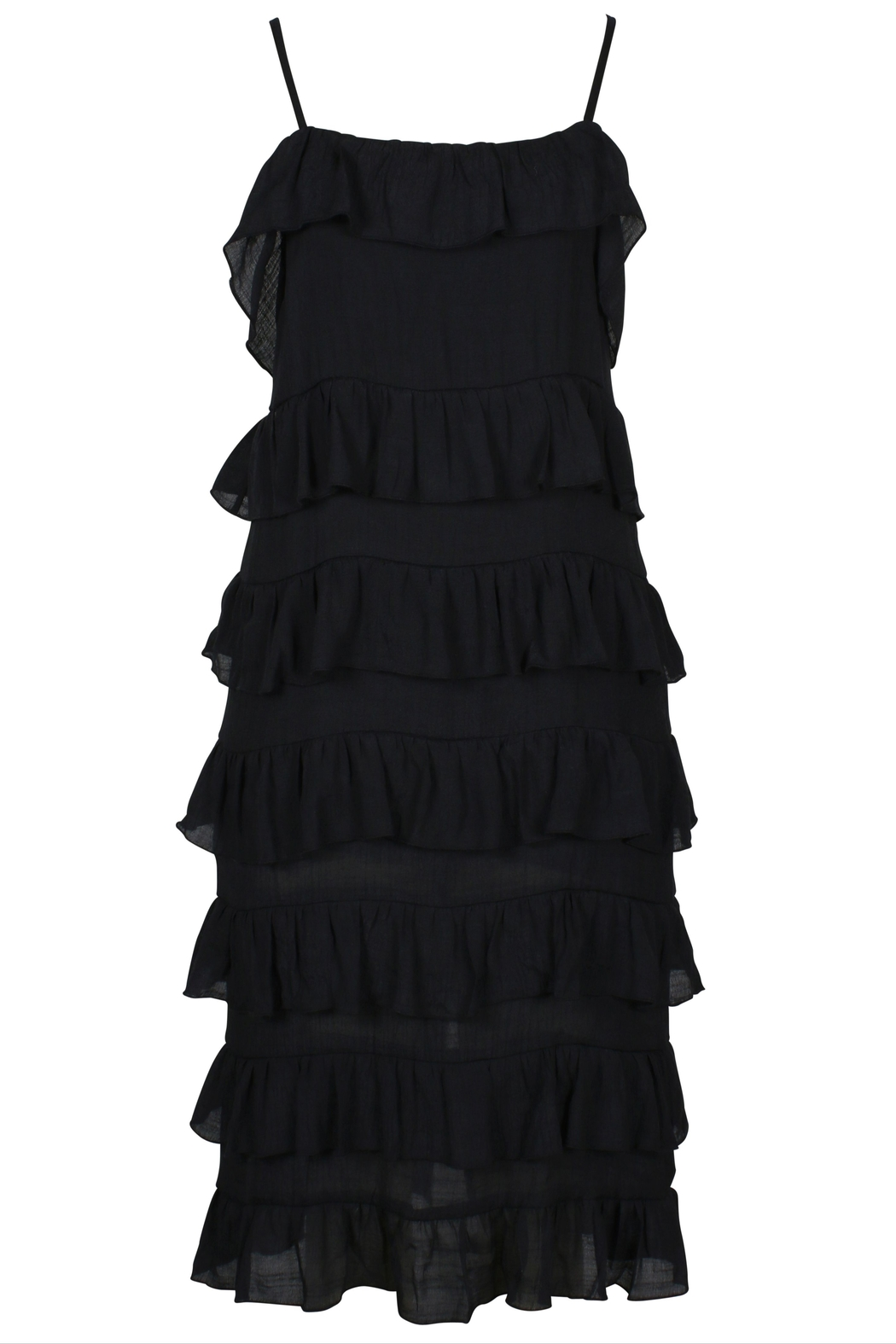 MinkPink Verity Strappy Frill Dress - Front Full Image