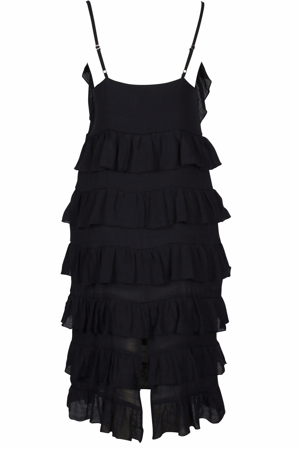MinkPink Verity Strappy Frill Dress - Side Cropped Image