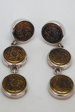 Barry Brinker Fine Jewelry Vermeil Button Earrings - Product List Image
