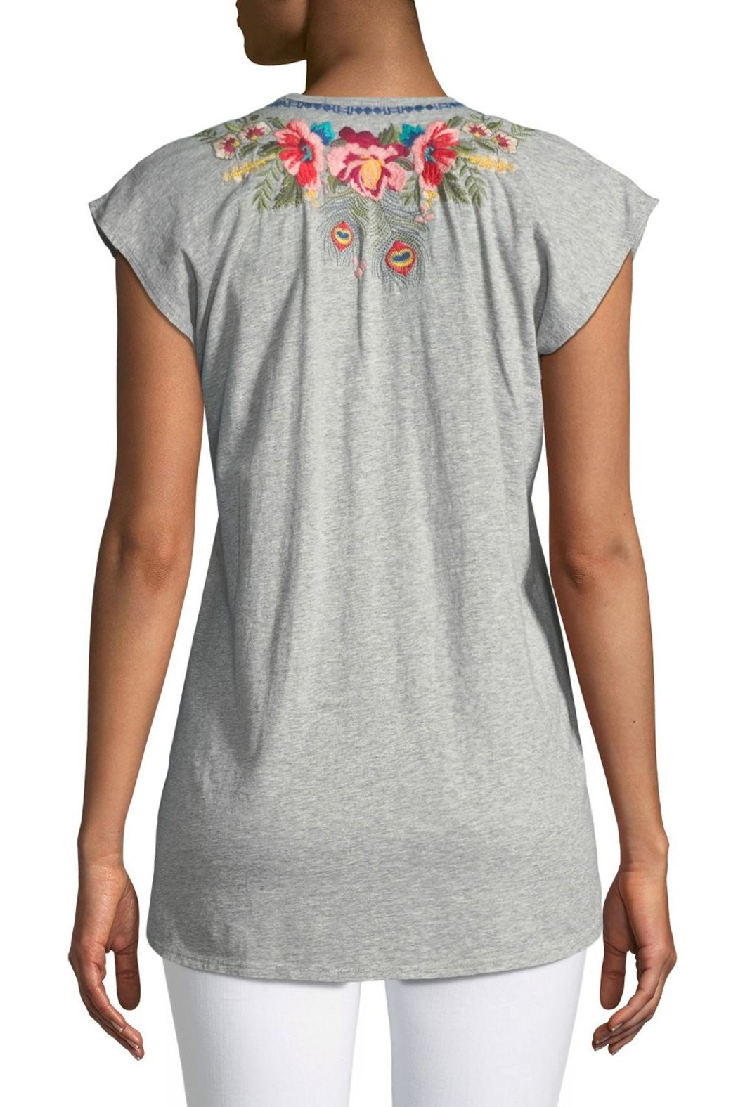 Johnny Was Vernazza Embroidered Tee - Front Full Image