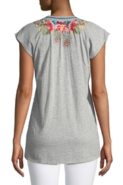 Johnny Was Vernazza Embroidered Tee - Front full body
