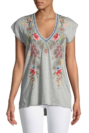 Johnny Was Vernazza Embroidered Tee - Front cropped