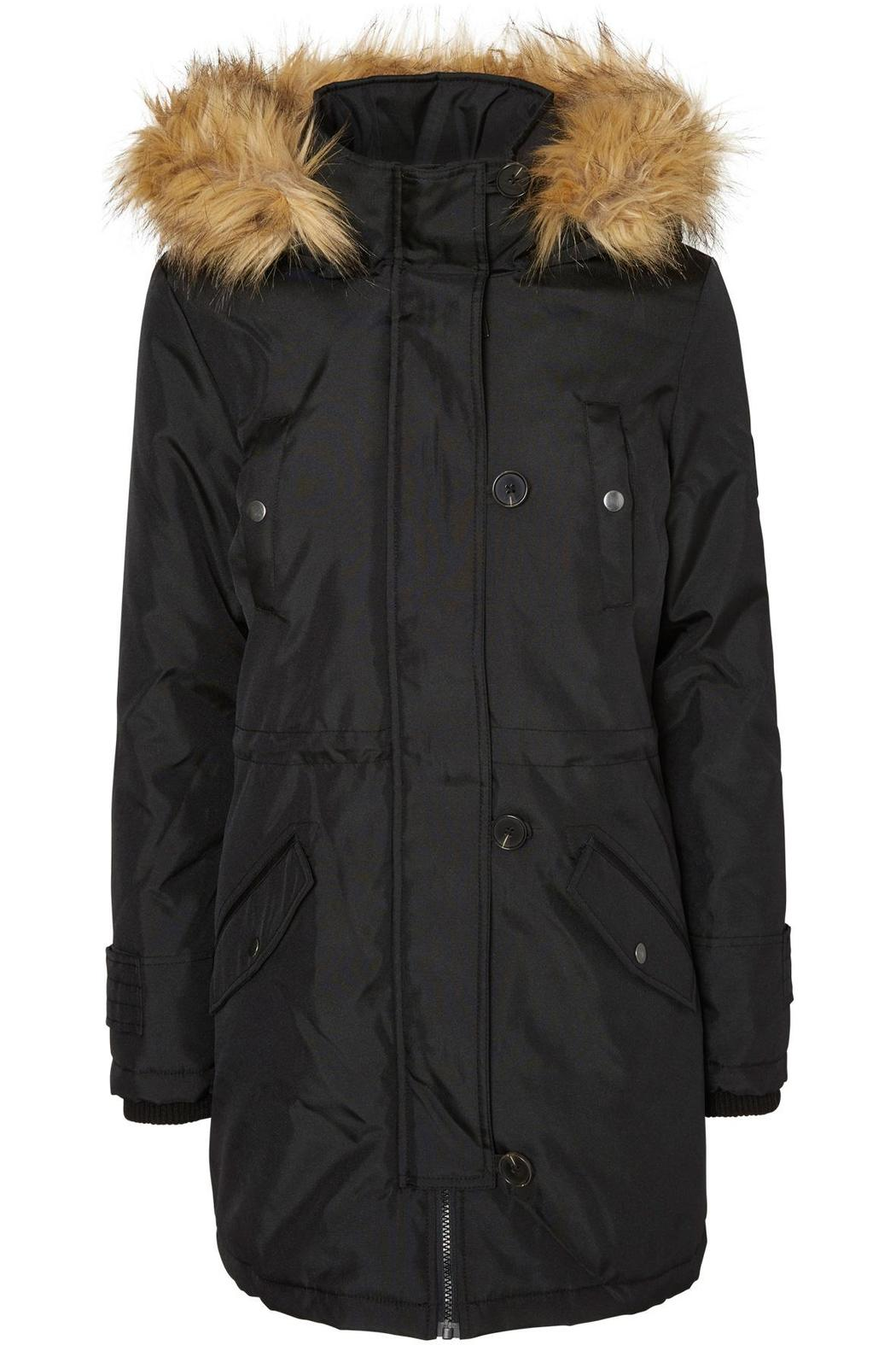 vero moda black parka from canada by bella clothing. Black Bedroom Furniture Sets. Home Design Ideas