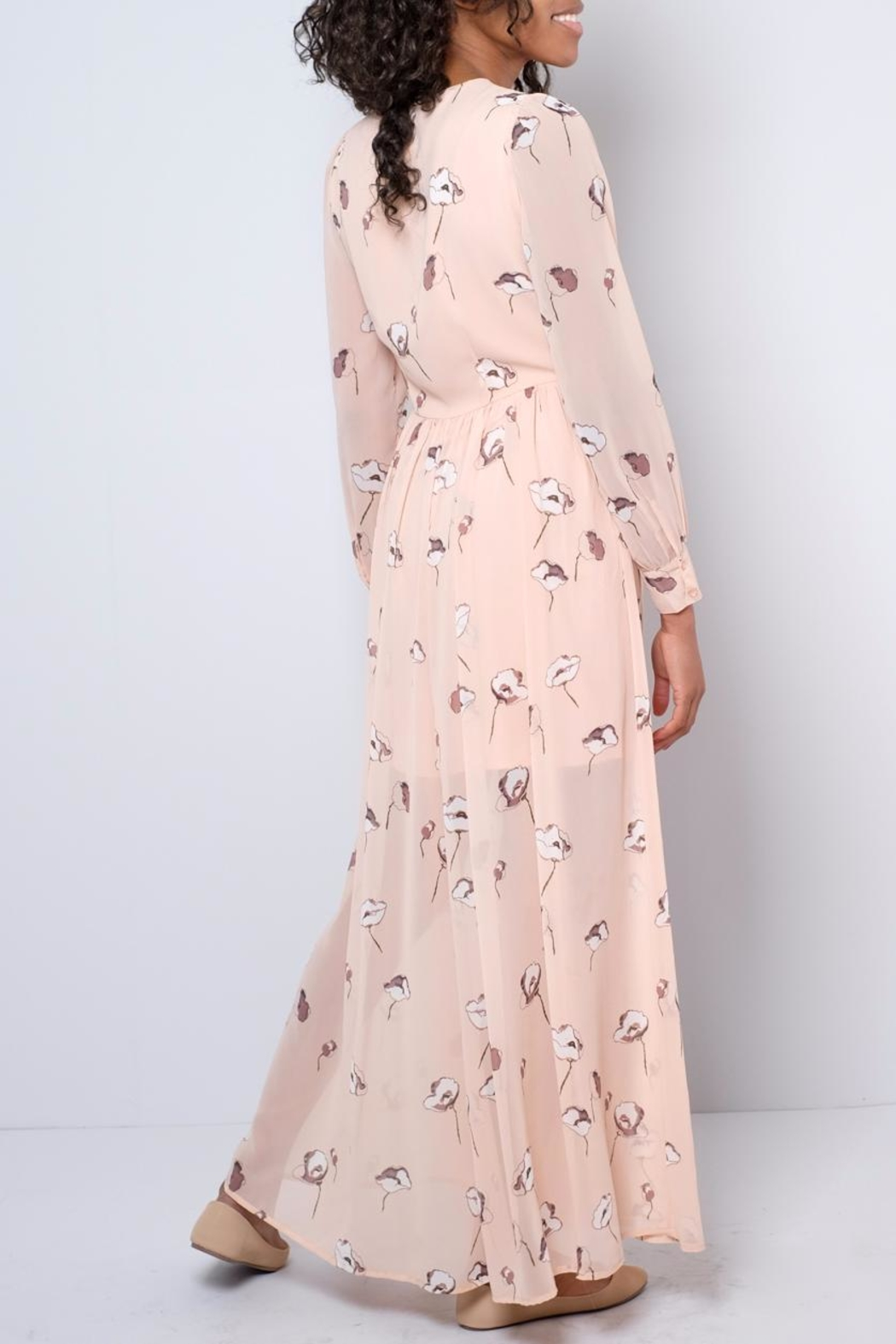 Vero Moda Chiffon Maxi Dress - Side Cropped Image