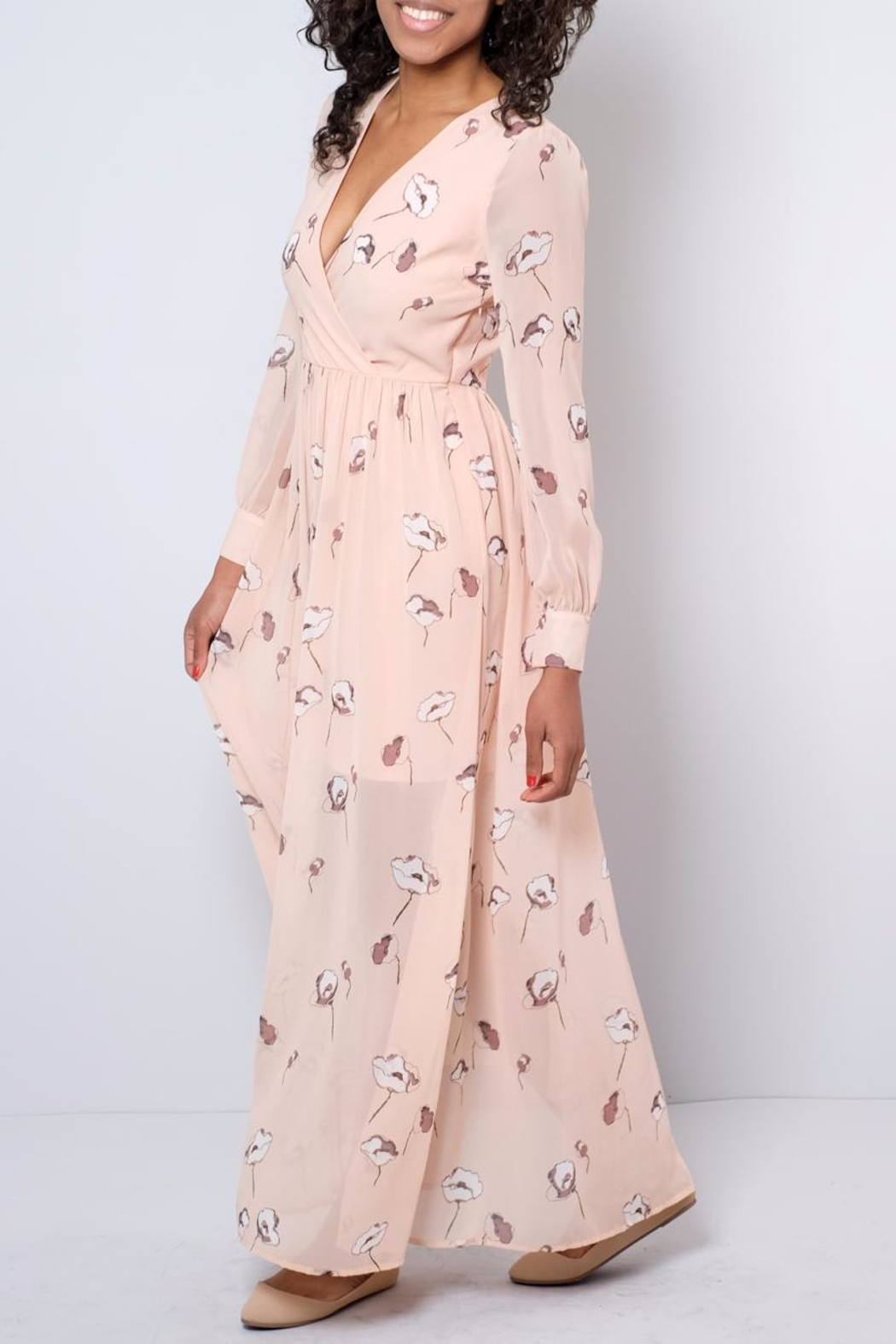 Vero Moda Chiffon Maxi Dress - Front Full Image