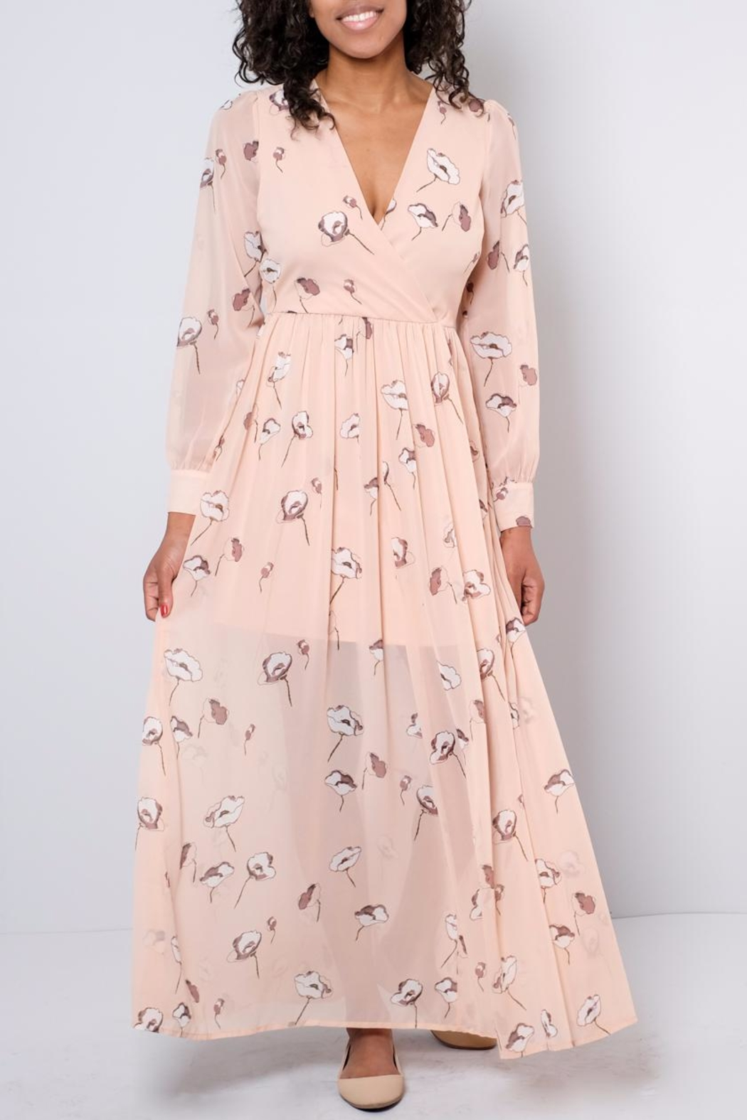 Vero Moda Chiffon Maxi Dress - Front Cropped Image