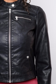Vero Moda Faux Leather Racer Jacket - Back cropped