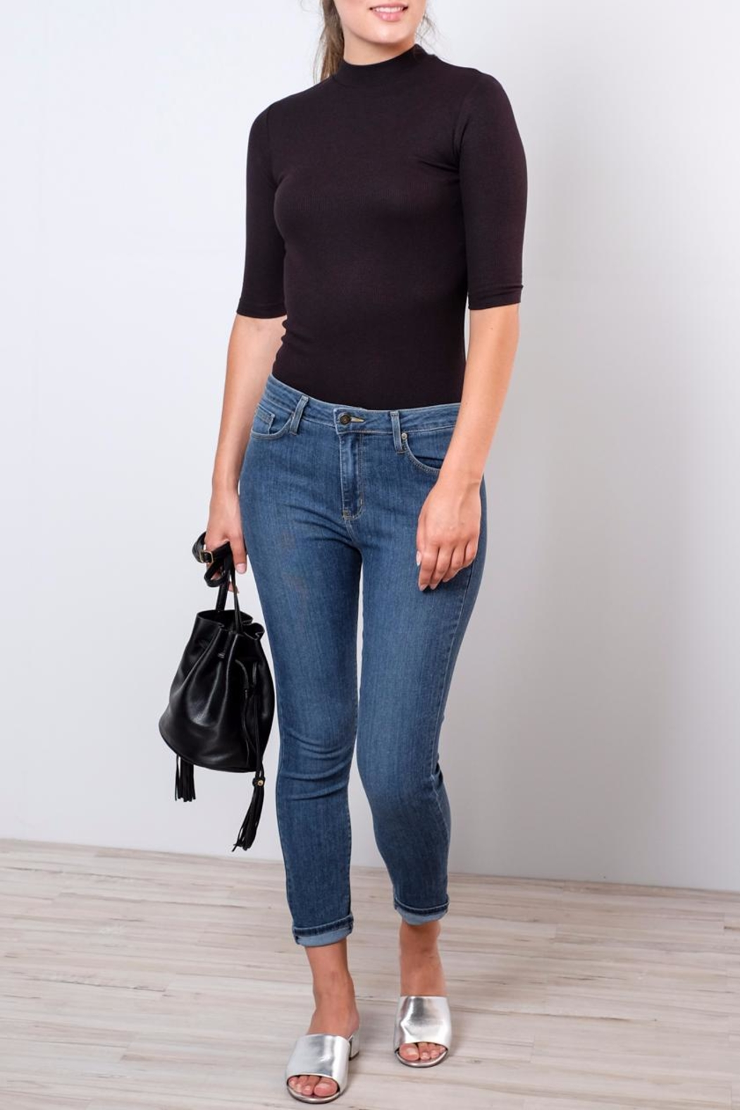 Vero Moda Fitted Mock-Neck Top - Back Cropped Image