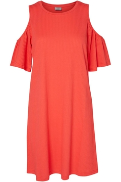 Shoptiques Product: Ribbed Cold Shoulder Dress