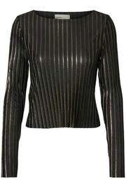 Vero Moda Metallic Crop Top - Front cropped