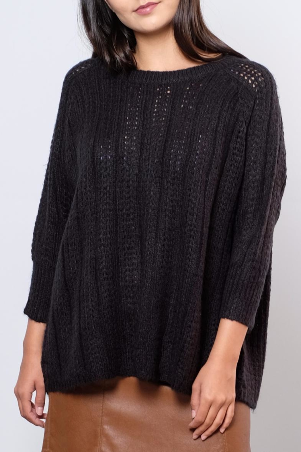 Vero Moda Oversized Cable Knit Sweater - Front Full Image