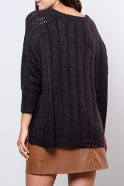 Vero Moda Oversized Cable Knit Sweater - Back cropped