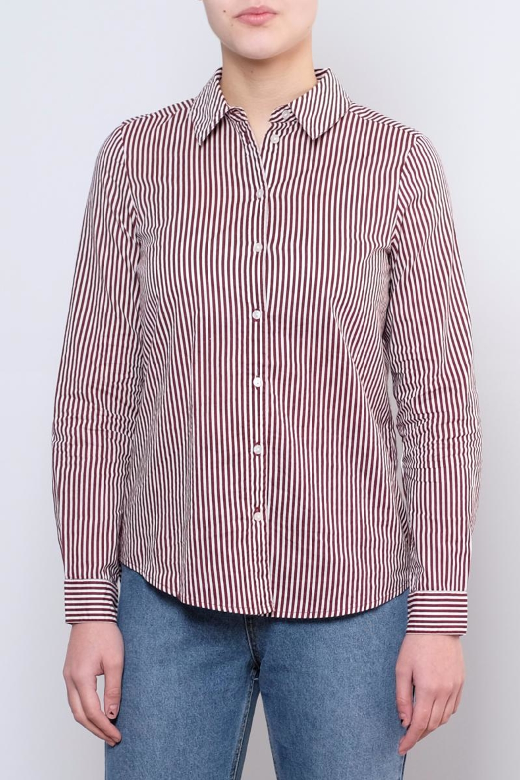 Vero Moda Striped Shirt - Front Cropped Image