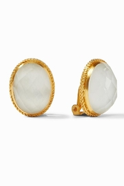 Julie Vos VERONA CLIP-ON EARRINGS-IRIDESCENT CLEAR CRYSTAL - Product Mini Image