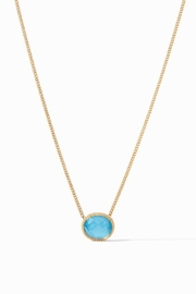 Julie Vos VERONA SOLITAIRE NECKLACE-GOLD PACIFIC BLUE - Product Mini Image