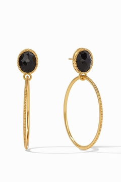 Julie Vos VERONA STATEMENT EARRING-BLACK ONYX - Alternate List Image