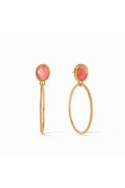 Julie Vos Verona Statement Earring-Gold/Iridescent Rouge - Product Mini Image