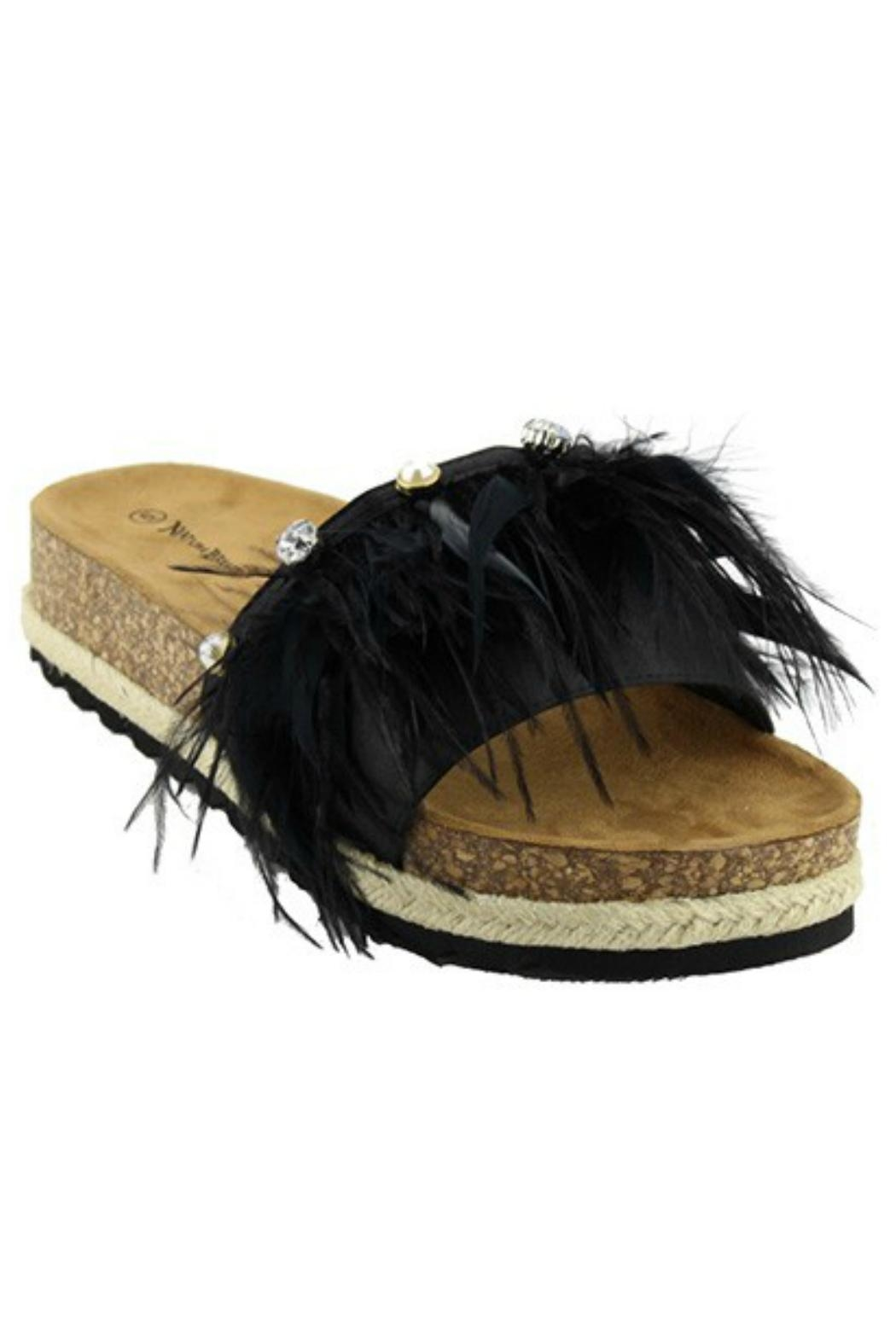 Verona Collections  Feather Sandal - Front Cropped Image