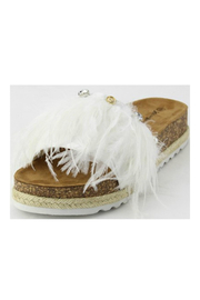 Verona Collections  Feather Sandal - Front full body
