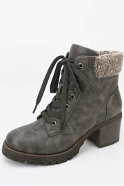 Verona Collections  Grey Fur Bootie - Product Mini Image