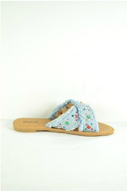 Verona Collections  Rhinestone Denim Flipflop - Front full body