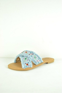 Verona Collections  Rhinestone Denim Flipflop - Product List Image