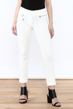 Veronica Beard White Ankle Crop Pant - Product List Image