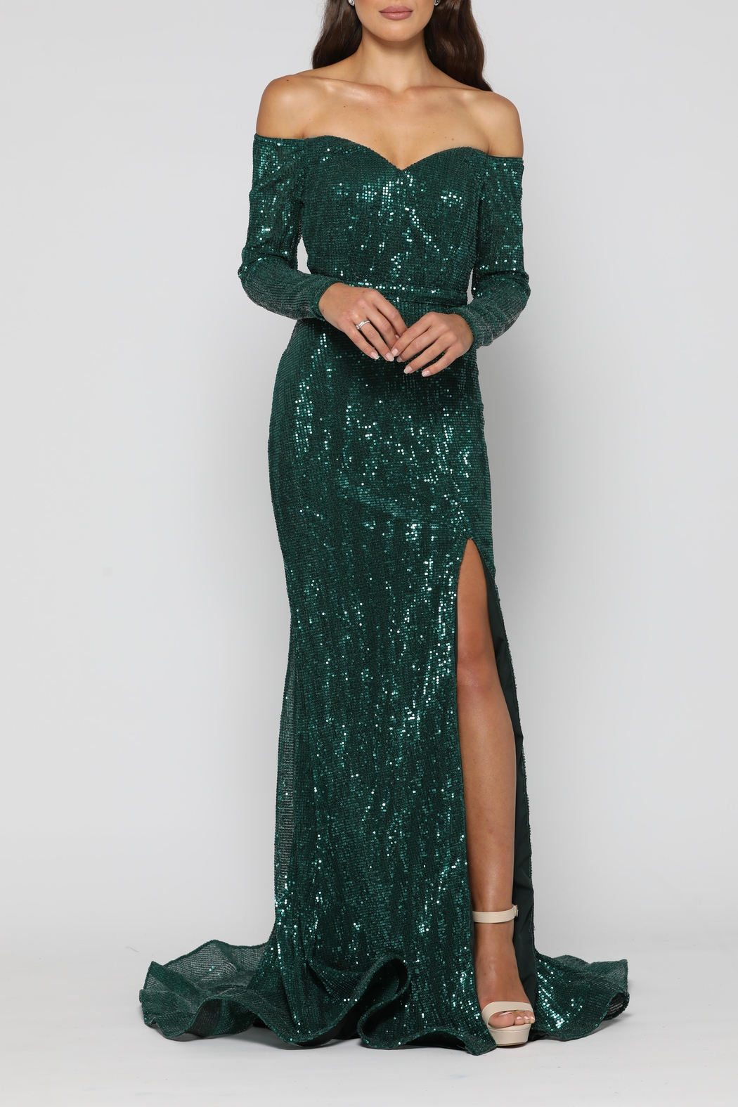 YSS the Label Veronica Gown Emerald - Main Image