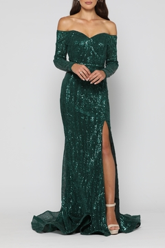 Shoptiques Product: Veronica Gown Emerald