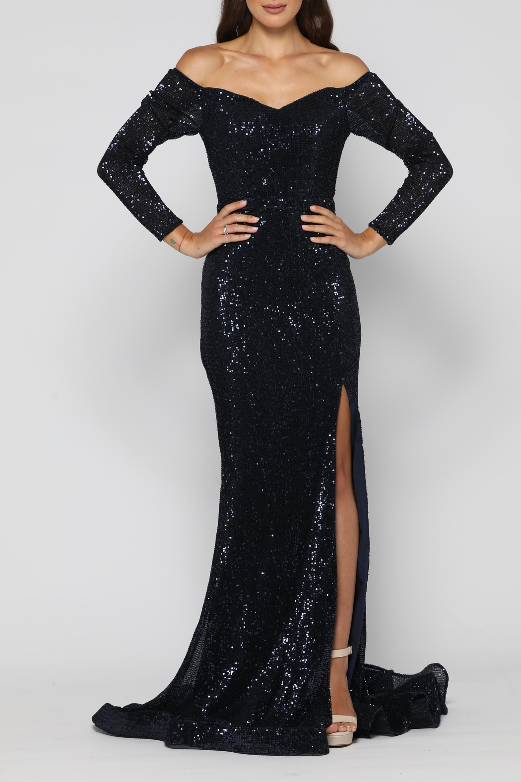 YSS the Label Veronica Gown Navy - Main Image
