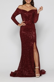 YSS the Label Veronica Gown Wine - Front cropped