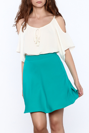 Veronica M White Loose Top - Product Mini Image