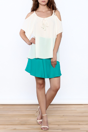 Veronica M White Loose Top - Front full body