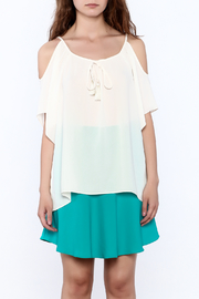 Veronica M White Loose Top - Side cropped