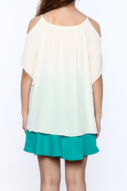 Veronica M White Loose Top - Back cropped