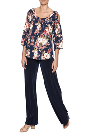 Veronica M Cold Shoulder Floral Top - Front full body
