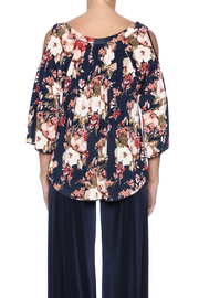 Veronica M Cold Shoulder Floral Top - Back cropped
