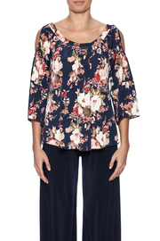 Veronica M Cold Shoulder Floral Top - Side cropped