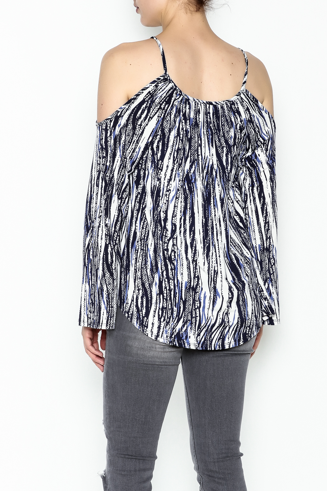Veronica M Amy Cold Shoulder Top - Back Cropped Image