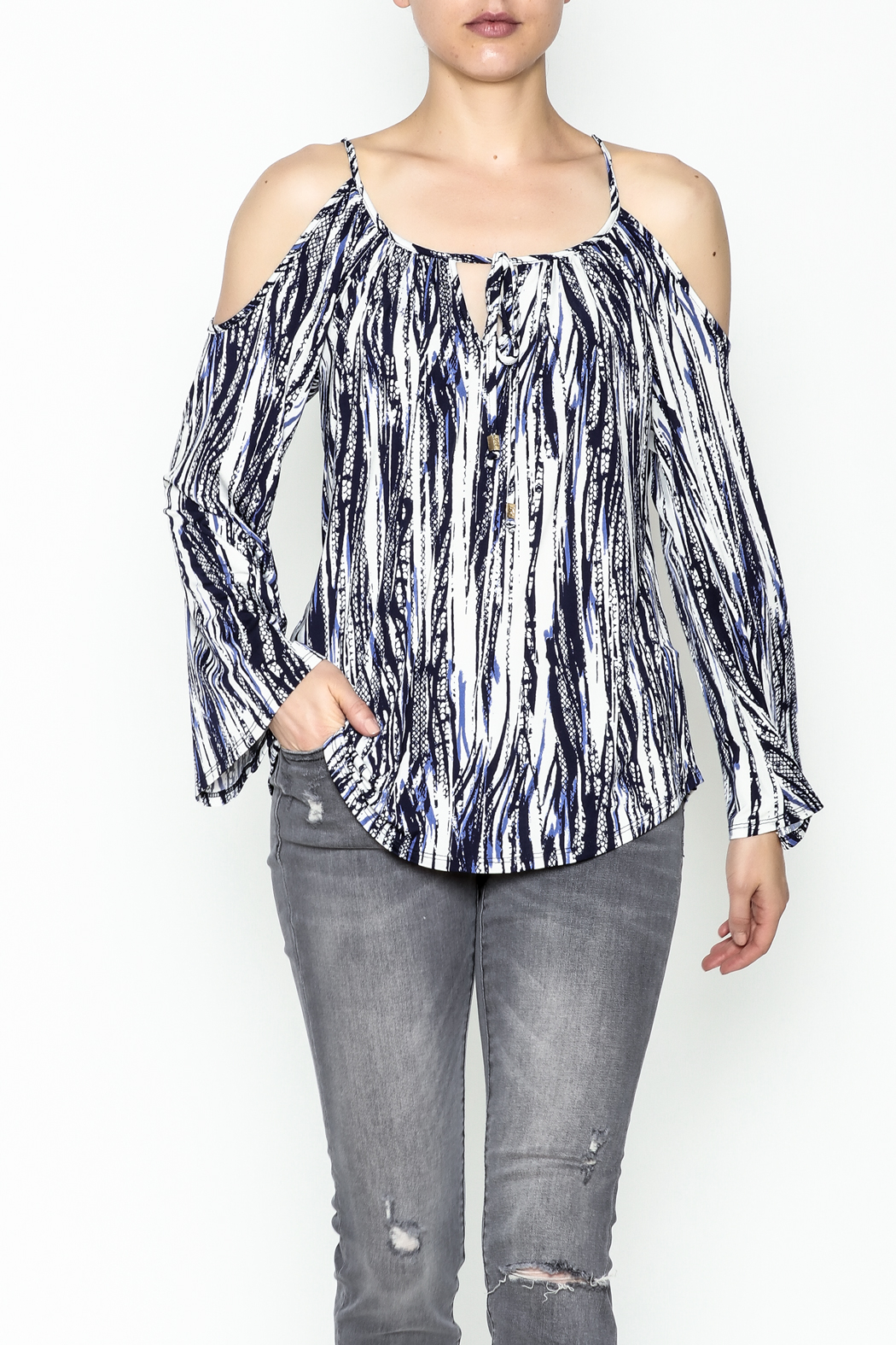 Veronica M Amy Cold Shoulder Top - Main Image