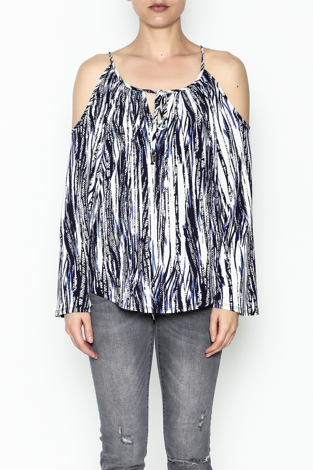 Veronica M Amy Cold Shoulder Top - Front Full Image