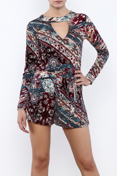 Shoptiques Product: Long Sleeve Keyhole Romper